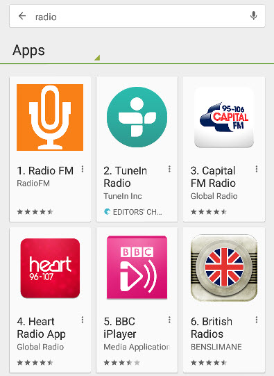 android-radio-apps