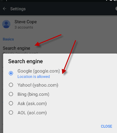 android-default-search-engine