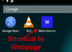 android-webpage-shortcut