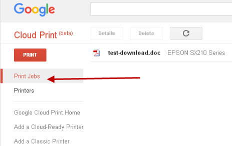 google-cloud-print-job
