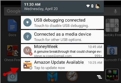 Amazon-update-notification