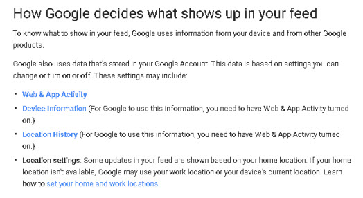 google-app-feed-content
