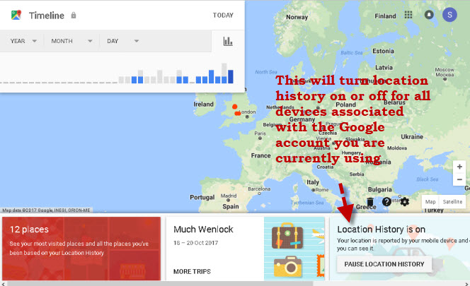 Android Location History,Reporting and Tracking on